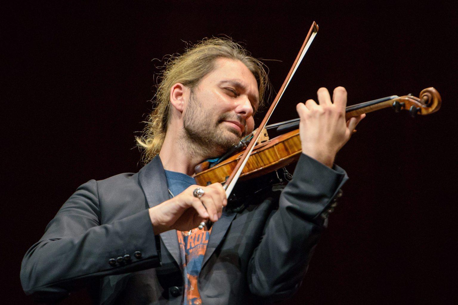 David Garrett német hegedűművész (Fotó: MTI/EPA/Oliver Dietze)